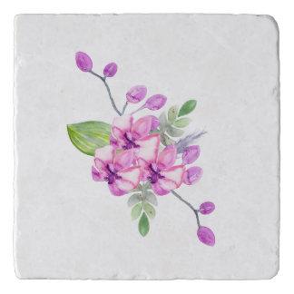 Violet Water Colour Orchid Trivet