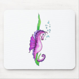 Violet Water Horse Mouse Pads