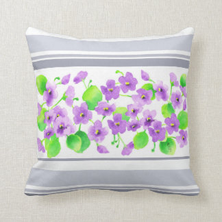 Violet watercolor Decorative Flower Pretty Classic Cushion