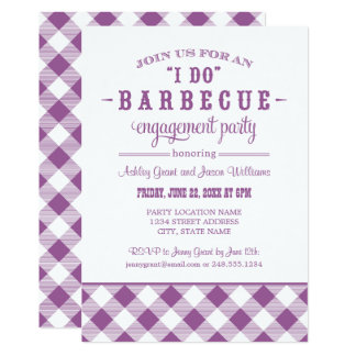 Violet Wedding Engagement Party | I Do BBQ Card