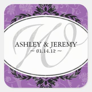 Violet Wedding Favor Stickers