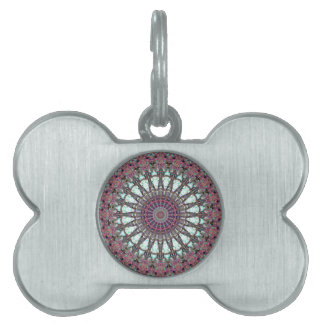 Violet Wheel Of Life fabric pattern Pet Name Tags
