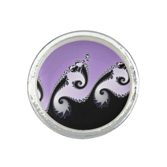 Violet, white and black fractal.