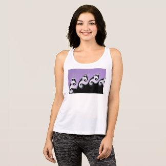 Violet, white and black fractal. tank top