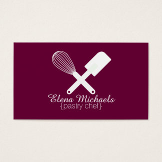 Violet & White Bakery Business Card