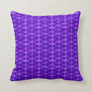 Violet wicker graphic design cushions