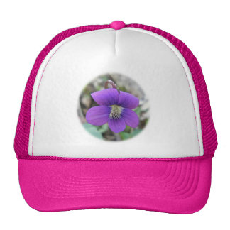 Violet Wildflower Coordinating Items Mesh Hats