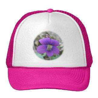 Violet Wildflower Coordinating Items Mesh Hats