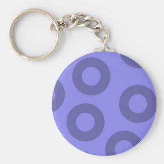 violeta y morado basic round button key ring