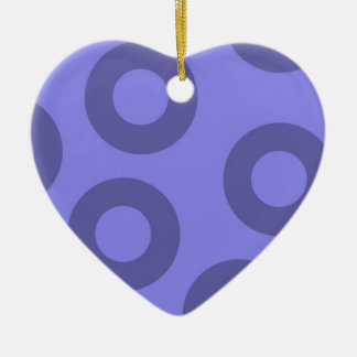 violeta y morado christmas ornament