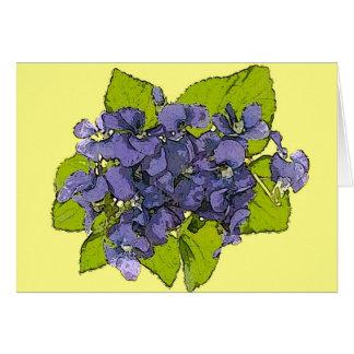 Violets2013 Greeting Card