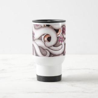 Violets Abstract Floral Mug