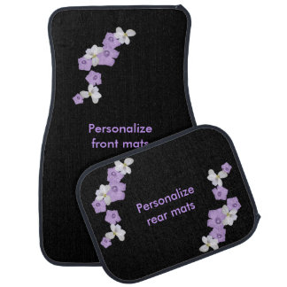 Violets and Morning Glories Floor Mat