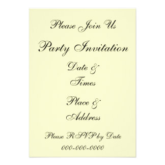 Violets and Pansy Floral Custom Party Invitations