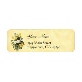 Violets and Pansy Flowers Return Address Labels