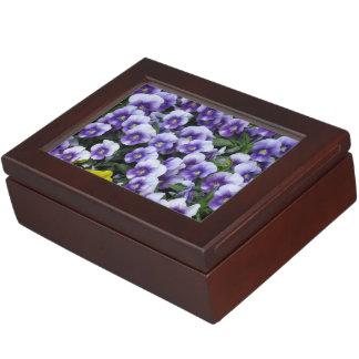 Violets custom keepsake box