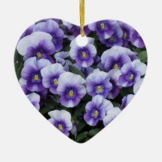 Violets custom ornament