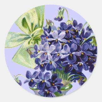 Violets Flower Art Sticker