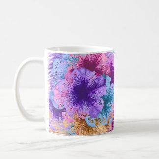 Violets Gone Wild Basic White Mug