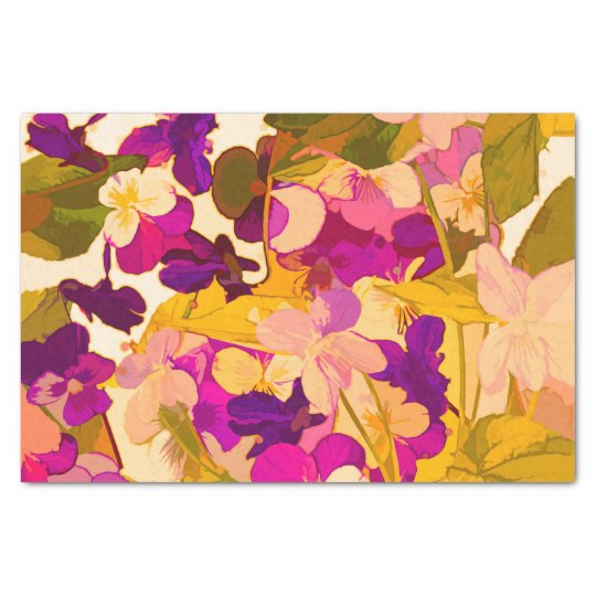 Violets in the sun 10lb Tissue Paper, White Tissue Paper