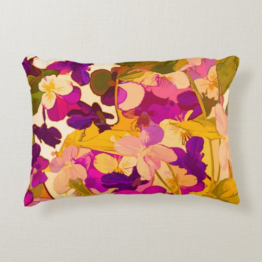 "Violets in the sun Accent Pillow 16"" x 12"""