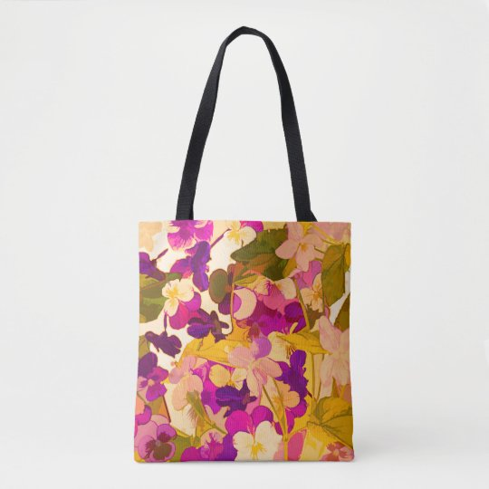 Violets in the sun Tote Bag