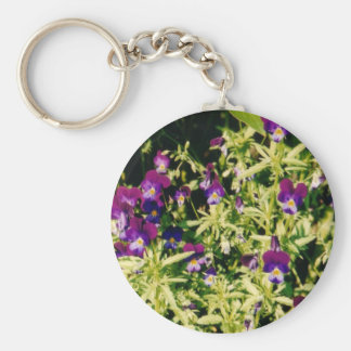 Violets Keychain