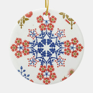 Violiet, iris and tulip motif wallpaper design, pr christmas ornament