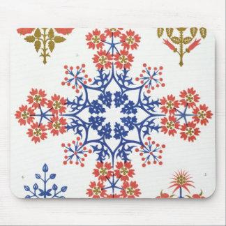 Violiet, iris and tulip motif wallpaper design, pr mouse mat
