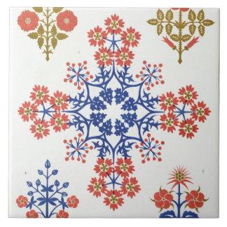 Violiet, iris and tulip motif wallpaper design, pr tile