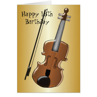 Violin 18th Birthday Card