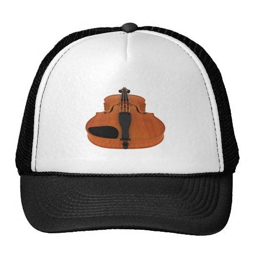 Violin 3D Model: Traditional Wood Finish Mesh Hats