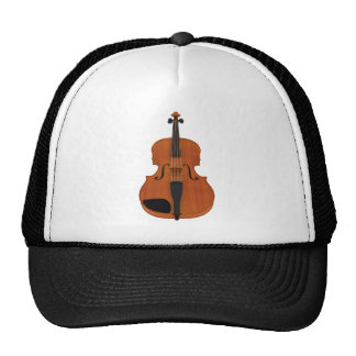 Violin 3D Model: Traditional Wood Finish Hat