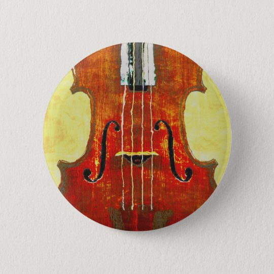 VIOLIN 6 CM ROUND BADGE