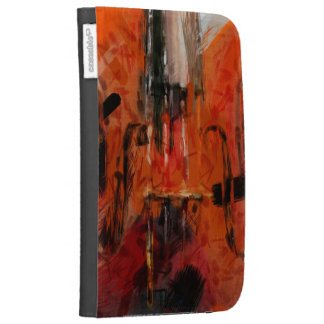 Violin Abstract Case For The Kindle
