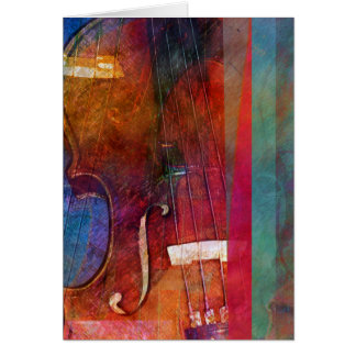 Violin Abstract One Card