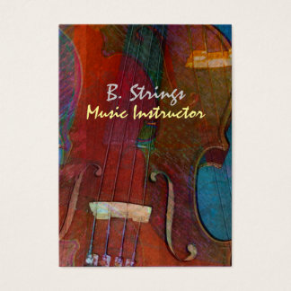 Violin Abstract Two Business Card