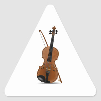 Violin and Bow Triangle Stickers