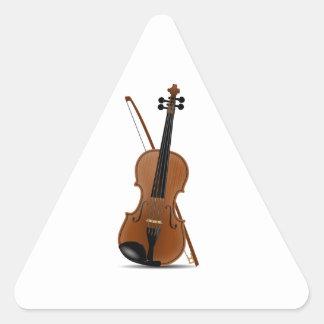 Violin and Bow Triangle Sticker