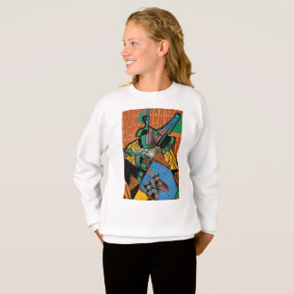Violin and Checkerboard by Juan Gris Sweatshirt