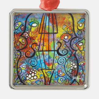 Violin And Flowers Christmas Ornament