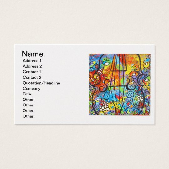Violin and Flowers Customisable Business Cards