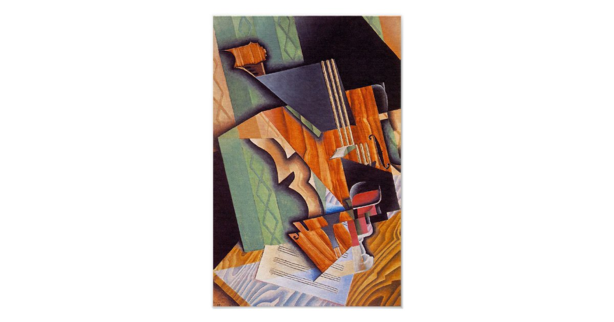 att free iphone violin and glass by juan gris poster zazzle co uk 3151