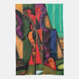 Violin and Guitar by Juan Gris Kitchen Towel