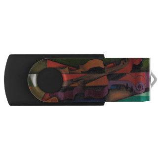 Violin and Guitar by Juan Gris Swivel USB 2.0 Flash Drive