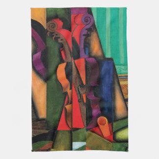Violin and Guitar by Juan Gris Tea Towel