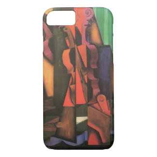 Violin and Guitar by Juan Gris, Vintage Cubism Art iPhone 8/7 Case