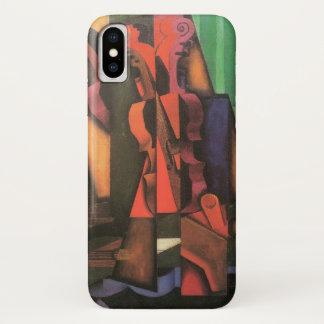 Violin and Guitar by Juan Gris, Vintage Cubism Art iPhone X Case