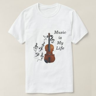 Violin and Music T-Shirt