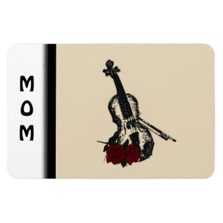 Violin and Roses Rectangular Photo Magnet